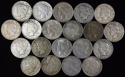 Lot of (20) Silver Peace Dollars (a198.2)