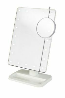 """Jerdon 8 LED Lighted Makeup Cosmetic Vanity Mirror 1X/10X Magnification """"No Box"""""""