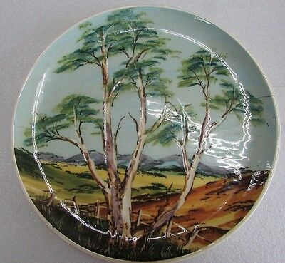 Australian Pottery Guy Boyd Hand Painted Plate Gum Trees Art Studio Ceramic