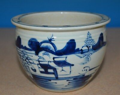 Fine Chinese Blue And White Porcelain Pot Rare A0778