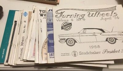 Group of Turning Wheels Studebaker monthly magazine 1980,1981 2 rosters