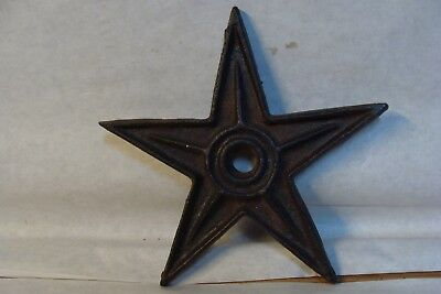 """Cast Iron Star Large 8"""" diameter Hole in center New old stock Free Shipping"""