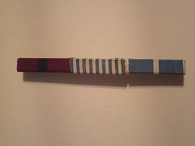 military ribbons bar of 3 clutch backed lot A
