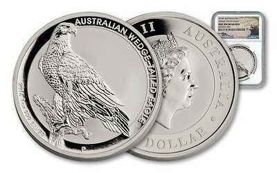 2016 $1 Australia Wedge Tailed Eagle Silver Dollar NGC GEM BU ~ Mercanti