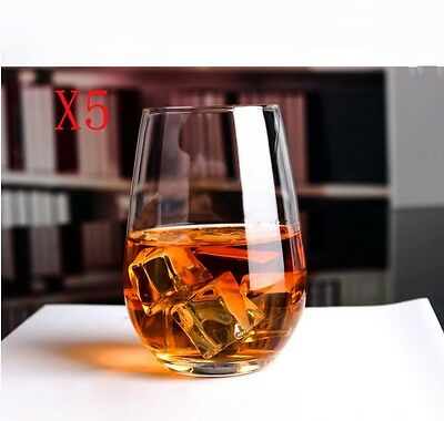 New 5X Capacity 397ML Height 114MM Transparent Whisky Wine Glass/Glassware %