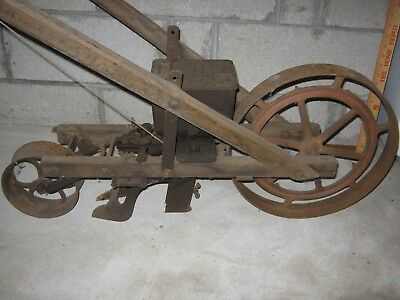 6 Antique Walk Behind Implements - Planters Seeders Cultivator - Planet Jr.