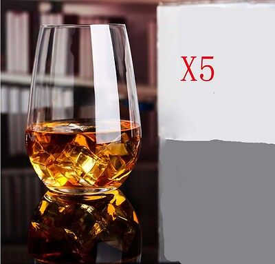 New 5X Capacity 556ML Height 127MM Transparent Whisky Wine Glass/Glassware %