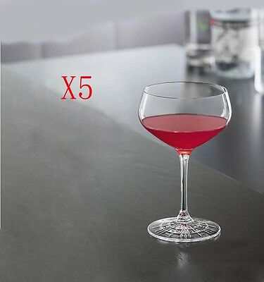 New 5X Capacity 235ML Height 140MM High Foot Champagne Wine Glass/Glassware %