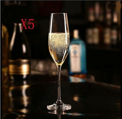 New 5X Capacity 210ML Height 252MM High Foot Champagne Wine Glass/Glassware %