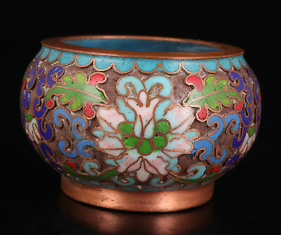 Old Cloisonne Enamel China Rare Pot Writing Brush Washer Collectable