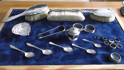 Large Heavy Job Lot Of Antique/vintage Hallmarked Silver ( Not Scrap ) £9.99