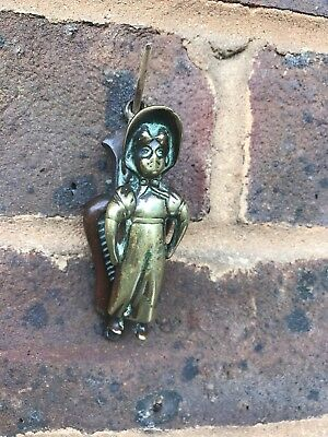 Vintage solid brass Collectable Door Knocker A Lady With Bonnet
