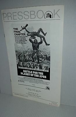 PRESSBOOK Battle for the Planet of the Apes 1973 publicity promotional playbills