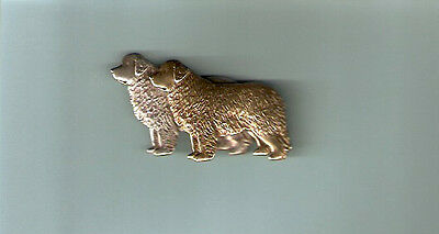 Newfoundland Dog Silver and Brass Brooch Pin Jewelry LAST ONE!