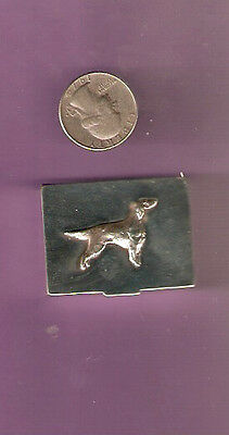 Irish or English Setter Silver Very Small Pillbox or Trinket Box