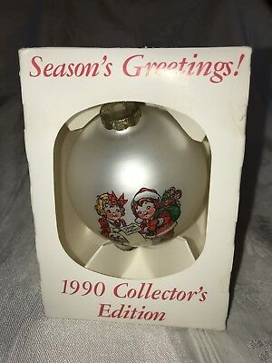 Campbell Kids 1990 Christmas Collector Edition Ornament MIB