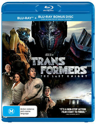 Transformers The Last Knight Blu-ray Region B New!
