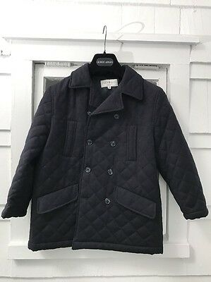 Gorgeous MAGIL BABY Italy wool quilted pea coat boys jacket 7-8
