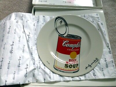 Andy Warhol Campbell's Plate Signed Hand Numbered Limited Edition Orig Packing
