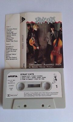 Music Cassette Tape. Stray Cats    Stray Cats