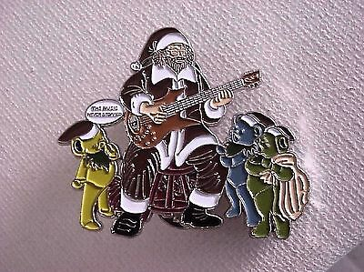 GRATEFUL DEAD  MUSIC NEVER STOPPED SONG LYRIC 2  inch PIN CHRISTMAS