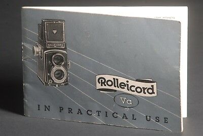 Rollei Rolleicord VA In Practical Use 1958 Camera Instruction / Guide / Manual