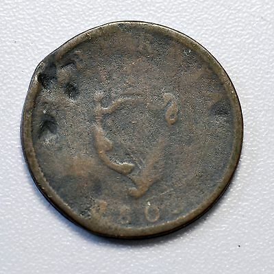 Gb George Iii Irish Copper Halfpenny 1805 ++  Nice Grade!! ++ [844-20]