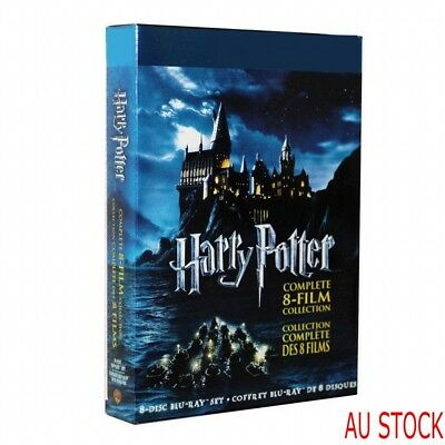 AU Stock Harry Potter Complete 1-8 Movie DVD Collection Films Box Set Xmas Gifts