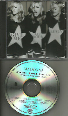 MADONNA Give me all your Luvin RARE 1TRK TST PRESS PROMO CD single 2012 MINT