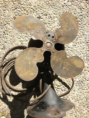 """Antique Emerson Jr""""??""""fan~9"""" Metal Blades~""""old""""~Works~No Cage~Parts Or Repair~"""