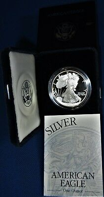 Nicely Presented US Mint Issued Proof 1994-P One Ounce Pure Silver Eagle Dollar