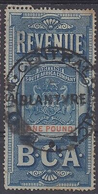 British Central Africa 1891 Arms Revenue 1 Pound Used