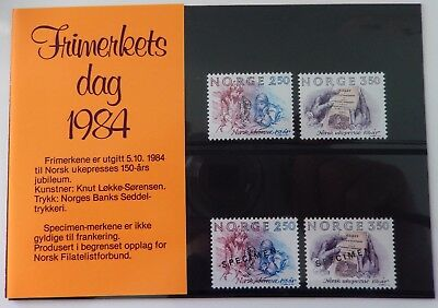 NORWEGEN - Frimerkets day 1984 (Tag der Briefmarke) Sonderausgabe