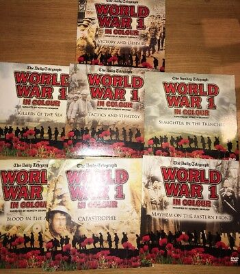 Set Of Seven World War 1 In Colour Dvds - New - Narrated By Kenneth Branagh