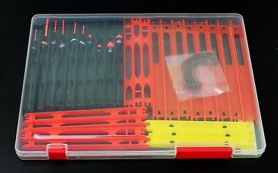 10 Max Pole Rigs Commercial Carp Fishing pole rig box Assorted ready made pole