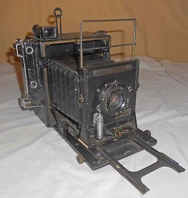 Vintage 1940's Graflex Speed Graphic 4x5 Press Camera w/Accessories In cCase-NR
