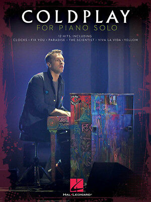 COLDPLAY PIANO PLAY-ALONG Sheet Music Book CD Guitar Chords