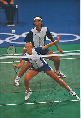 Gail Emms Hand Signed 12x8 Photo Team GB Olympics 1.