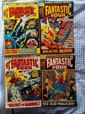 Fantastic Four 120,121,123,123 ,Silver Surfer, Galactus, 1st app of Air Walker