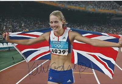 Kelly Sotherton Hand Signed 12x8 Photo Team GB Olympics 1.