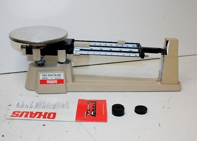 Ohaus Triple Beam Mechanical Balance- 700 Series/Scale up to 5lb 2oz+ Manual