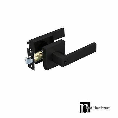 Entrance Door Lever Handles Lock Set (3111MB) - Matt Black Finish Handle