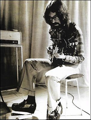 Steve Hackett performing live with Genesis circa 1970. 8 x 11 pin-up photo print