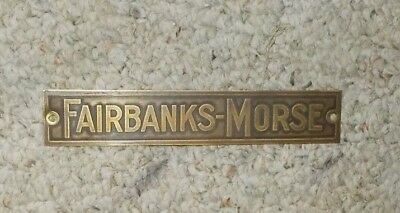 Brass Fairbanks Morse Gas Engine Tag