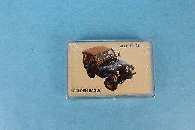 """Vintage 1977 Jeep Cj-7 """"golden Eagle"""" Advertising Playing Cards Sealed In Case"""