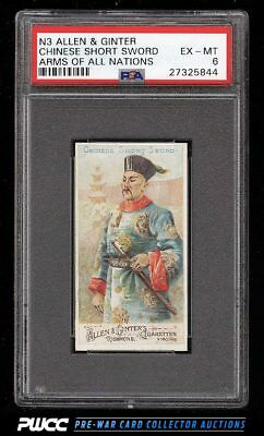 1887 N3 Allen & Ginter Arms Of All Nations Chinese Short Sword PSA 6 EXMT (PWCC)