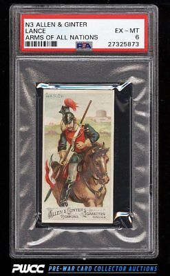 1887 N3 Allen & Ginter Arms Of All Nations Lance PSA 6 EXMT (PWCC)