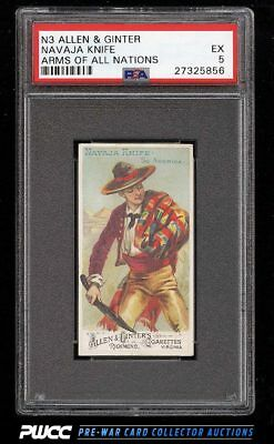 1887 N3 Allen & Ginter Arms Of All Nations Navaja Knife PSA 5 EX (PWCC)
