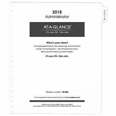 """AT-A-GLANCE Monthly Planner Refill 2018, 9 x 11"""", White 7092378"""