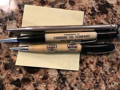 3 Mechanical Pencils With Advertising Tydol Oil Farmers Oil